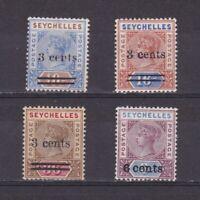 SEYCHELLES 1901, Sc# 29-32, 'Queen Victoria', MH