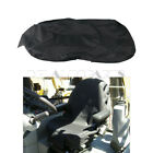 Universal Equipment Seat Cover Low Back Black Canvas Fit for Backhoes Forklifts