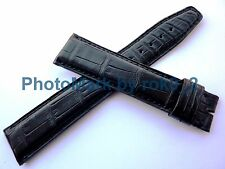 Genuine IWC Black Alligator Watch Strap Band 21mm X 18mm EXTRA LONG Brand New!!!