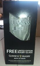 "1 Guinness Rugby Bierglas Limited Edition ""Coach""  Neu"