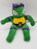 "Vintage Teenage Mutant Ninja Turtles (TMNT) Donatello 12"" Plush Stuffed Toy"