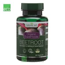 Natures Aid Organic Superfoods Beetroot 60 Capsules