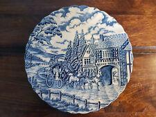 Blue & White Myott Royal Mint Hand Engraved Decorative Plate Horse & Coach Scene