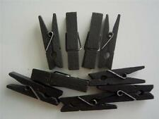 SMALL PEGS - BLACK bigger 35mm pk of 20 wooden mini peg clothespin baby craft