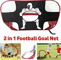 2 IN 1 Football Foldable Training Net Soccer Kids Goal Mode Target Shooting Set