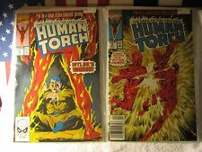 HUMAN TORCH # 3 & 4 BAGGED AND BOARDED~ACID FREE~MARVEL COMICS AV