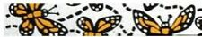 Beastie Band Cat Collars - =^.^= Purrfectly Comfy - Monarch Butterfly
