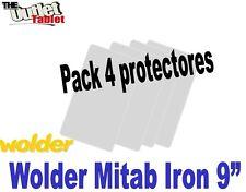 "Pack 4 Protectores de pantalla para Tablet Wolder Iron 9"" 9 Pulgadas"