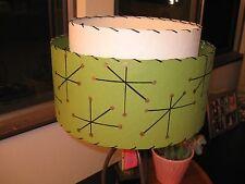 Mid Century Vintage Style 2 Tier Fiberglass Lamp Shade Modern Atomic Starburst G