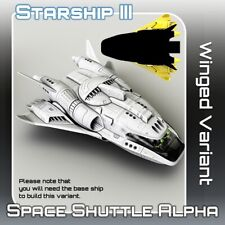 Space Shuttle Alpha Winged Variant Suitable for 28-32mm Science Fiction Wargames