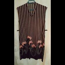 Women Original handmade black dress Sz. M-L with floral pre-owned no tag