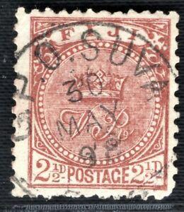 Fiji 1897 2.5d brown fine used 1898 SUVA cds SG.103 cat £25+ scarce BLACK425