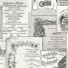 Antique Menus Wallpaper FK26953 Double Roll