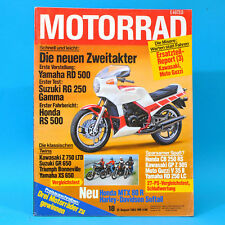 DAS MOTORRAD 18/1983 Yamaha RD 500 Suzuki RG 250 Honda RS 500 Harley-Davidson