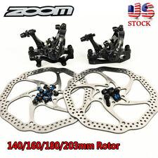 ZOOM Mecánico Freno De Disco Delantero/Freno Trasero Bicicleta de Montaña Bici 140/160/180/203mm nos Rotor
