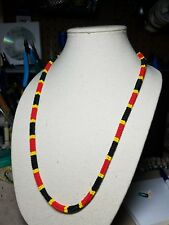 Coral Snake Rare Unique Handmade Native American Beaded Necklace