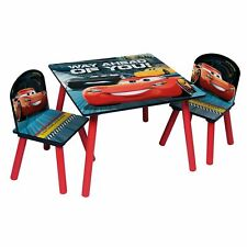 Cars 3 Themed Table Chairs Set Wooden Kids Activity Nursery Playroom Furniture