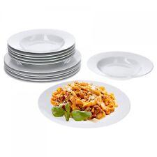 Tafelservice Trend 12tlg. für 6 Personen Suppenteller & Eßteller weiß rund
