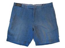 Polo Ralph Lauren Weathered Indigo Blue Beach Resort Linen Straight Shorts 38