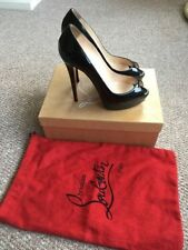 Christian Louboutin Patent Leather Peep Toes Stiletto Women's Heels