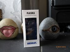 RARE ABSOLUT VODKA UK / UNITED KINGDOM FLASKA GLASS LIMITED EDITION