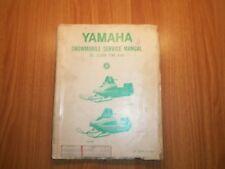1971 RARE YAMAHA SNOWMOBILE SL-338B & SW-396 SERVICE MANUAL (009)