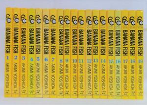 Banana Fish, Manga - Full 19 Volume Set - Japanese Language - Ships from Florida