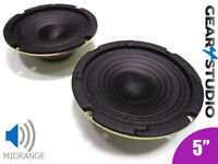 "2x HI-FI Replacement Speaker Cone Mid range Frequency 5"" 125mm 40W 8 Ohm Speaker"