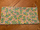 """Vintage Feed Flour Sack Fabric 34"""" X 36"""" Piece Yellow Red Green Flowers"""