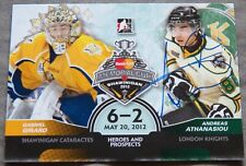 Detroit Red Wings Andreas Athanasiou Signed 2013 ITG Memorial Cup Auto Card