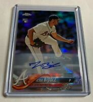 JESSE BIDDLE - 2018 TOPPS CHROME UPDATE - REFRACTOR - AUTOGRAPH - BRAVES