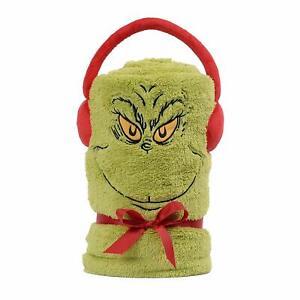 Dr. Seuss The Grinch Snowthrow Throw Blanket
