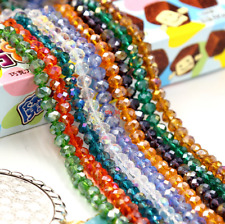 Faceted Rondelle Crystal Glass Beads Loose Beads(AB)4mm,6mm,8mm Jewelery Making