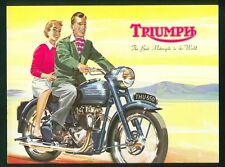 Triumph Motorcycle Catalogue T100 T110 Thunderbird Terrier Cub Original Brochure