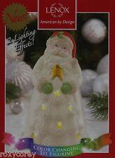 Lenox Color Changing Seasons Sparkle 6.75 in Santa Lit Figure Nib