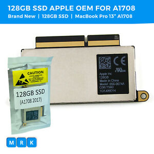 "NEW Apple OEM 128GB SSD for MacBook Pro Retina 13"" 2016 2017 A1708 656-0074A"