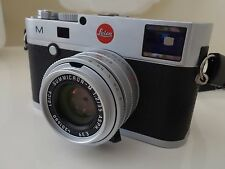 Leica M M 24.0MP Digital Camera Black Silver & Leica Summicron-M 1:2/35mm Lens