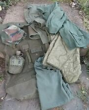 Military Army Surplus Lot, Vietnam Era, 2 Jackets & Liner, Canteen Duffle & Sack