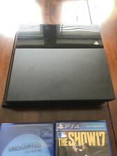 Used Sony PLAYSTATION 4 PS4 500 GB Black Console CUH-1115A w/Accessories + GAMES