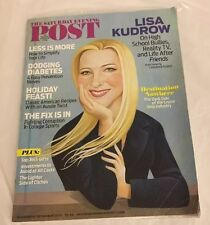 THE SATURDAY EVENING POST DECEMBER 2013 ISSUE LISA KUDROW  ON HS BULLIES