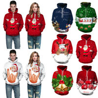 Unisex Men Women Christmas 3D Graphic Hooded Hoodie Sweatshirt Pullover Jumper