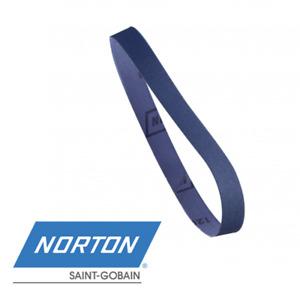 13 x 457mm NORTON R822 Premium Zirconia File Sanding Belts - 40 Grit - 10pk