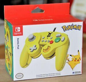 Pokemon Nintendo Switch Pikachu Hori Battle Pad Controller New & Sealed!