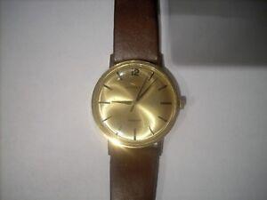 Movado Kingmatic 14k Gold Filled Sub Sea Wrist Watch