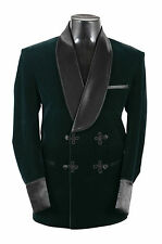 New Men Elegant Luxury Stylish Designer Green Smoking Jacket Party Wear Blazer