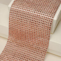 80cm Rose Gold Diamante Rhinestone Ribbons for Wedding Clothing Party Home Decor