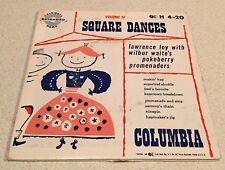 SALE: SQUARE DANCES Vol.IV 2-Disc 45 RPM Box Set-Lawrence Loy - Columbia H 4-20