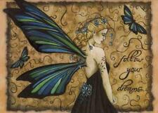 Jessica Galbreth Follow Your Dreams fairy fantasy Greetings Card Tree Free