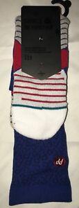 Stance The Perfect Pair True Blue Retro 3 Socks 9-12 L BNWT