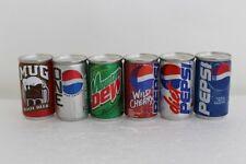 Pepsi Brands 6 pack  Miniature Can Set
